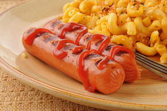 Hot dogs close up Stock Images