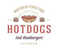 Hot dogs et hamburgers illustration libre de droits