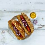 Hot dogs faits maison photo stock