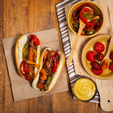 Hot Dogs Fajita Style Royalty Free Stock Image