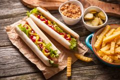 Hot dogs Royalty Free Stock Photography