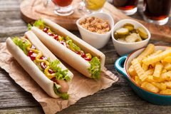 Hot dogs Stock Photography
