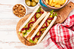 Hot dogs Stock Image