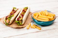 Hot dogs Royalty Free Stock Photo