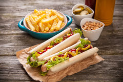 Hot dogs Royalty Free Stock Images