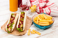 Hot dogs Royalty Free Stock Photos