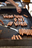 Hot Dogs on a Grill Stock Image