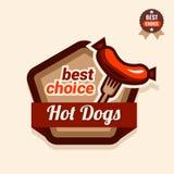Hot dogs logo Royalty Free Stock Photos