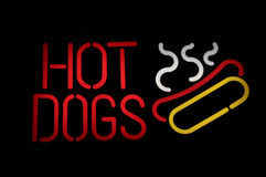 Hot Dogs Neon Sign Royalty Free Stock Photo