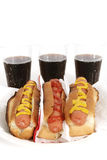 Hot dogs and sodas Royalty Free Stock Photo