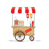 Hot dogs on wheels Royalty Free Stock Photo