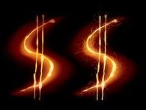 Hot dollar sign Royalty Free Stock Image