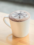 Hot drak chacolate latte Stock Photography