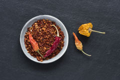 Hot Dried Peppers Stock Photography