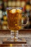 Hot drink based on whiskey stock photo