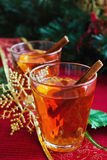 Hot drink with christmas decorations Royalty Free Stock Photography