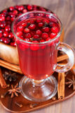 Hot drink with cranberries Royalty Free Stock Photography