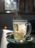 Hot drink with ginger and lemon Stock Photography