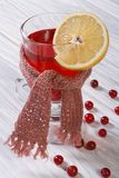 Hot drink with lemon cranberry Royalty Free Stock Photos