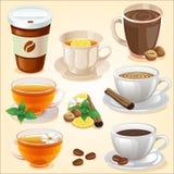 Hot drink set. Additional file in vector eps 10 stock illustration