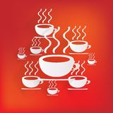 Hot drink web icon Stock Images