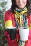 Hot Drinks. Your two hot drinks please Royalty Free Stock Images