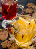 Hot drinks Stock Images