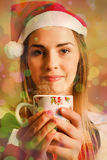 Hot drinks at Christmas Stock Images