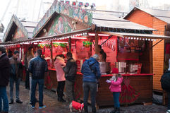 Hot drinks at the christmas market Stock Photos