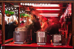 Hot drinks at the christmas market Royalty Free Stock Photo