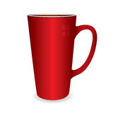 Hot drinks cup. Illustration of a hot drinks cup that could be filled with coffee or tea Stock Photography