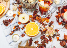 The hot drinks - fruit tea Royalty Free Stock Photo