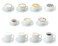 Hot Drinks. Set of hot drinks isolated on white background Royalty Free Stock Photography