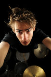 Hot Drummer Royalty Free Stock Images