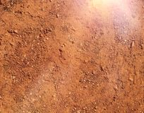 Hot and dry terrain brown soil natural background Stock Photos