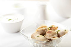 Hot dumplings on the dish Stock Photography