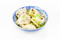 Hot dumplings with green onion Stock Image