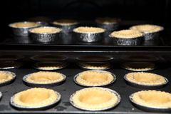 Hot egg tart fresh from the oven Royalty Free Stock Image
