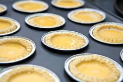 Hot egg tart fresh from the oven Royalty Free Stock Photography