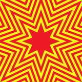 Hot Eight-Pointed Star Abstract Background Stock Photo