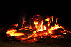 Hot embers Stock Images