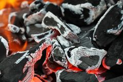 Hot embers Royalty Free Stock Photography