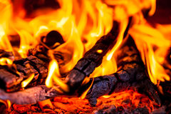 Hot embers Stock Image