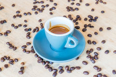 Hot espresso coffee Royalty Free Stock Image
