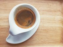 Hot espresso coffee Royalty Free Stock Photos