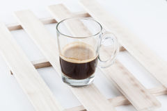 Hot espresso coffee. On isolated background Stock Image