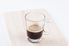 Hot espresso coffee. On isolated background Royalty Free Stock Image