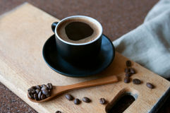 Hot espresso coffee Royalty Free Stock Photo
