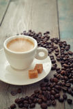 Hot espresso in cup Stock Images