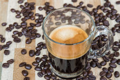 Hot espresso shot. Royalty Free Stock Photo
